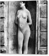 Nude Posing, C1885 Acrylic Print