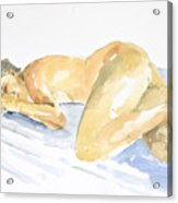 Nude Serie Acrylic Print by Eugenia Picado