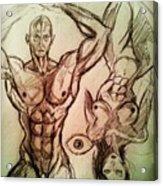 Nude Sketch 49 Acrylic Print