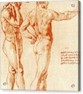 Nude Study Of Two Warriors Acrylic Print