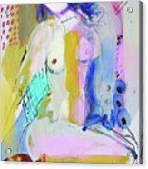 Nude With Yellow Stripe Acrylic Print