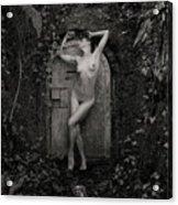 Nude Woman And Doorway Acrylic Print