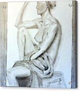 Nude Woman Viii Acrylic Print