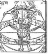 Nude Woman With The Zodiac Acrylic Print