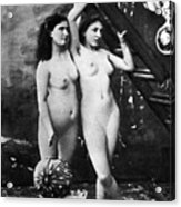 Nudes At Festival, C1900 Acrylic Print
