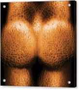 Nudist - Just Cheeky Acrylic Print by Mike Savad
