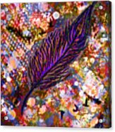Nujabes' Feather Acrylic Print