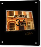 Number 34 Acrylic Print