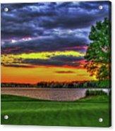 Number 4 The Landing Reynolds Plantation Golf Art Acrylic Print