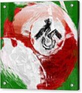 Number Fifteen Billiards Ball Abstract Acrylic Print