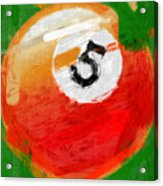 Number Five Billiards Ball Abstract Acrylic Print