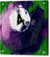 Number Four Billiards Ball Abstract Acrylic Print