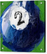 Number Two Billiards Ball Abstract Acrylic Print