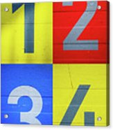 Numbers Acrylic Print