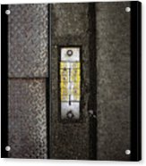 Numbers On The Sidewalk Acrylic Print