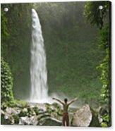 Nungnung Waterfall Acrylic Print