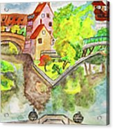 Nuremberg, Hand Drawn Picture Acrylic Print