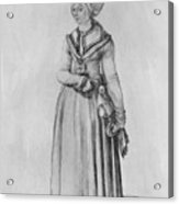 Nuremberg Woman In House Dress Acrylic Print