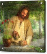 Nurtured By The Word Acrylic Print by Greg Olsen