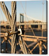Nuts And Bolts Of The Brooklyn Bridge Acrylic Print