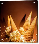 Nuts Over Ice-cream. Birthday Party Background Acrylic Print