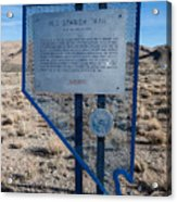 Nv-142 Old Spanish Trail Mountain Springs Pass Acrylic Print