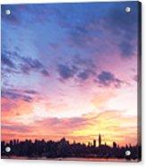 Ny Skyline Dawn Delight Acrylic Print