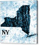 Ny State Map  Acrylic Print