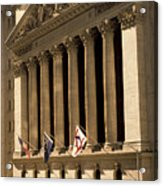 Ny Stock Exchange Acrylic Print by Gerard Fritz
