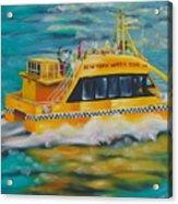 Ny Water Taxi Acrylic Print by Milagros Palmieri
