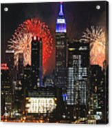 Nyc 4th Of July Fireworks Acrylic Print