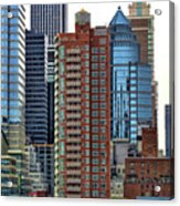 Nyc Architecture Buildings Tall  Acrylic Print