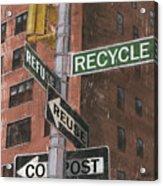 Nyc Broadway 1 Acrylic Print by Debbie DeWitt