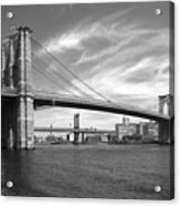 Nyc Brooklyn Bridge Acrylic Print by Mike McGlothlen
