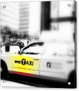 Nyc Cab Acrylic Print by Funkpix Photo Hunter