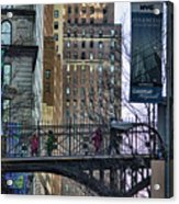 Nyc Crossings Daily Life Children  Acrylic Print