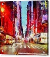 Nyc Fifth Ave Acrylic Print