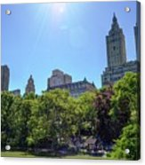 Nyc From Central Park Acrylic Print