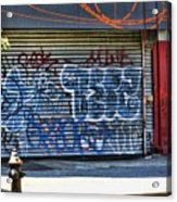 Nyc Graffiti Acrylic Print