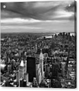 Nyc Manhattan Panorama Acrylic Print by Nina Papiorek