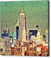 Nyc Scaped Acrylic Print