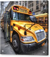 Nyc School Bus Acrylic Print