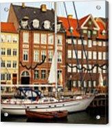 Nyhavn Area Of Copenhagen Acrylic Print