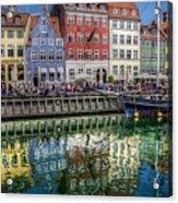 Nyhavn Harbor Area, Copenhagen Acrylic Print