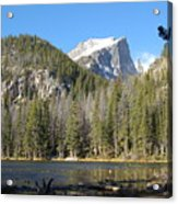 Nymph Lake In Rocky Mountain National Park Acrylic Print
