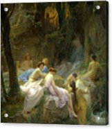 Nymphs Listening To The Songs Of Orpheus Acrylic Print