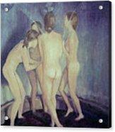 Nymphs Playing Acrylic Print by Masami Iida
