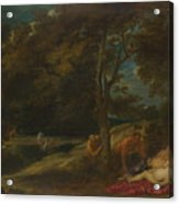 Nymphs Surprised By Satyrs Acrylic Print