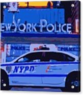 Nypd Color 16 Acrylic Print by Scott Kelley