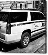 nypd police bomb squad gmc yukon xl vehicle New York City USA Acrylic Print